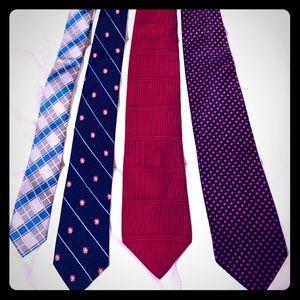 Bundle of five ties, various designers